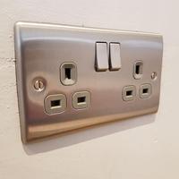 Brushed chrome socket